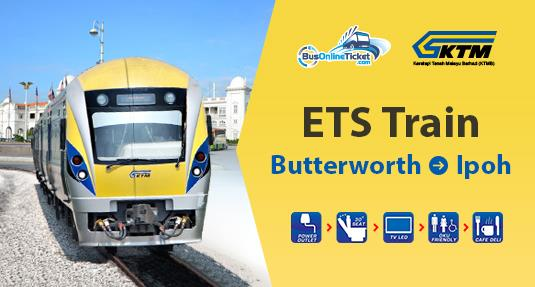 ETS Train from Butteroworth to Ipoh