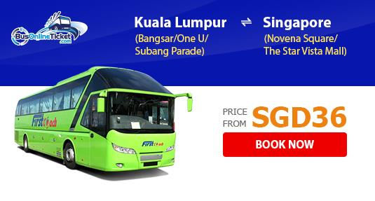 First Coach Bus Services Between Kuala Lumpur and Singapore