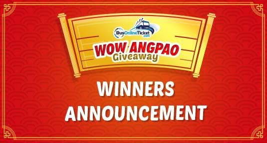 WOW Angpao Giveaway 2018 - Winner Announcement
