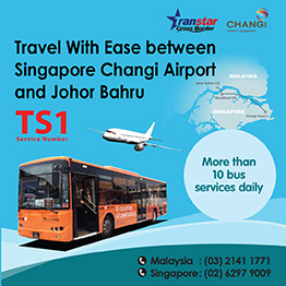 Shuttle bus between Singapore Changi Airport and JB CIQ