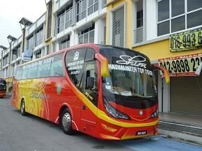 Shira Express bus from Klang to Hatyai