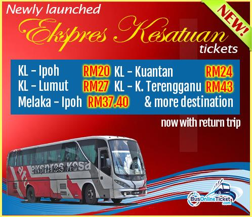 Kesatuan Express Joins Us | Bus from Kuala Lumpur to Ipoh and Lumut