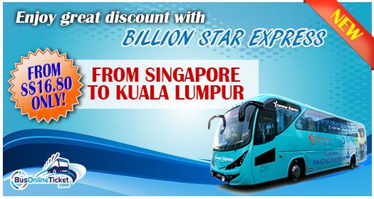 Billionstars discounted ticket from Singapore to KL