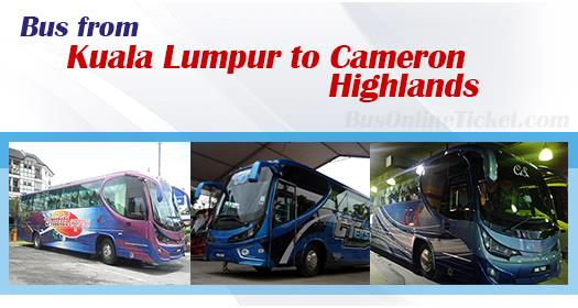 Bus from KL to Cameron Highlands