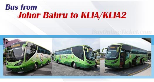Bus from Johor Bahru to KLIA/KLIA2