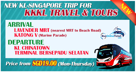 Discount Ticket for KKKL Express Bus from KL to Singapore
