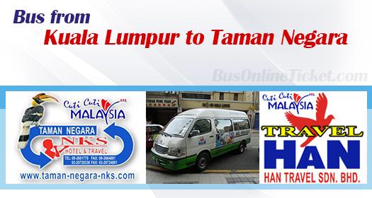 Bus from Kuala Lumpur to Taman Negara