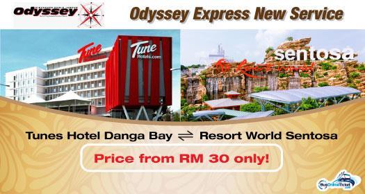 Bus from Tune Hotel Danga Bay to Resort World Sentosa and