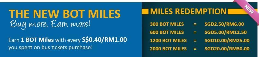 BOT Miles - Loyalty Program | BusOnlineTicket com