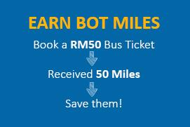 Book Bus Tickets and earn BOT Miles for discount