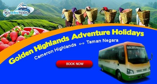 Golden Highlands Adventure Holidays Sdn Bhd provides transfer service from Cameron Highlands to Taman Negara or Perhentian Island
