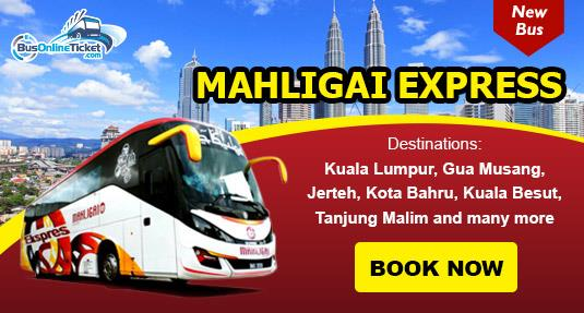 Mahligai Express bus from KL to Kuala Besut (Perhentian Island)