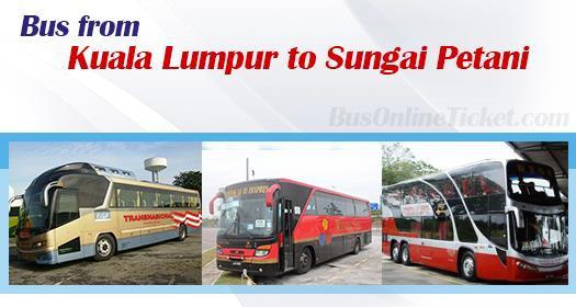 Bus from Kuala Lumpur to Sungai Petani