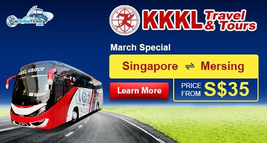 KKKL Express Bus from Singapore to Mersing