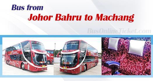 Bus from Johor Bahru to Machang