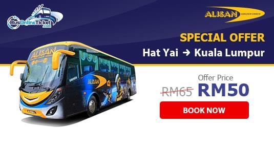 Alisan Golden Coach Express Bus from Hat Yai to Kuala Lumpur - Only RM50