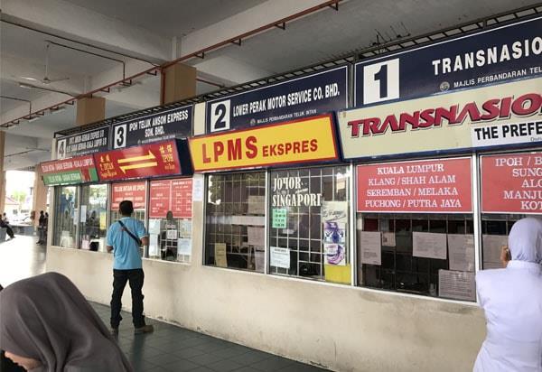 Bus Ticket Counter in Terminal Intan