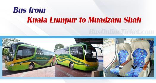 Bus from Kuala Lumpur to Muadzam Shah
