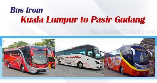 Bus from Kuala Lumpur to Pasir Gudang