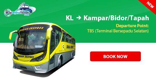 Edaran Express Bus from Kuala Lumpur to Kampar, Bidor or Tapah