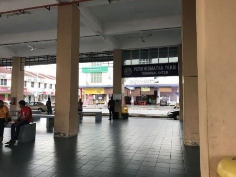 Waiting area at Terminal Intan