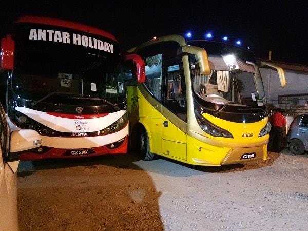 Antar Holiday Express Bus at the office