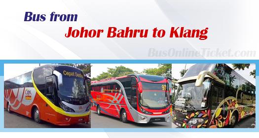 Bus from Johor Bahru to Klang