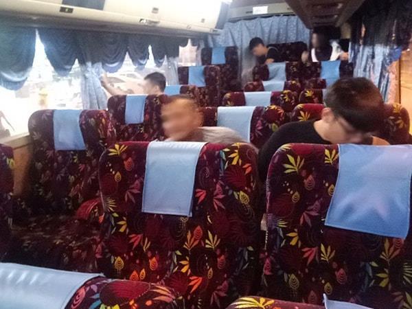 Seats of Antar Holiday Express Bus