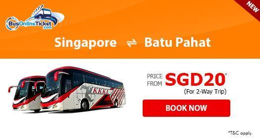 KKKL Express offers bus from Singapore to Batu Pahat at price from SGD12