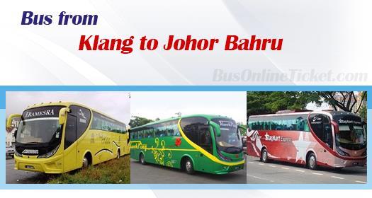 Bus from Klang to Johor Bahru