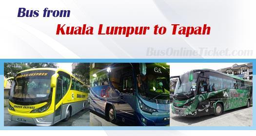Bus from Kuala Lumpur to Tapah