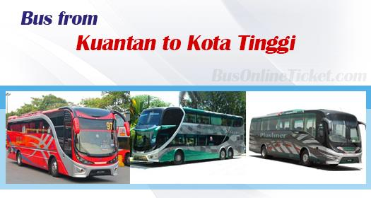 Bus from Kuantan to Kota Tinggi