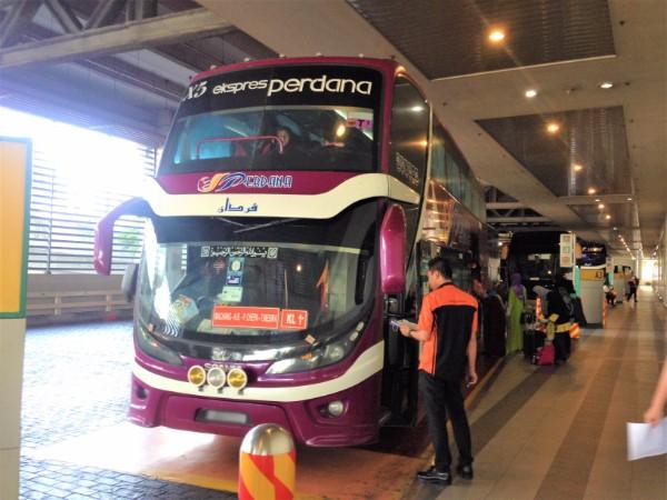 Perdana Express Bus from Kuala Lumpur to Kota Bharu
