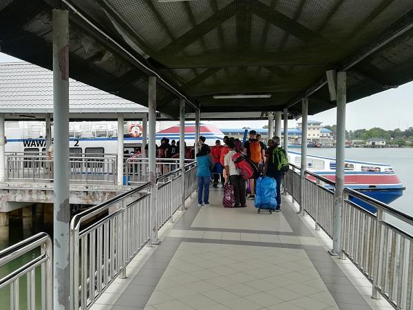 walk way to ferry
