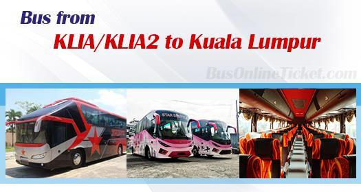 Bus from KLIA/KLIA2 to Kuala Lumpur