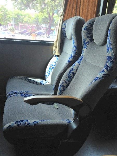 Transnasional bus seats