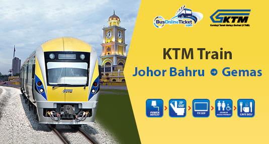 JB to Gemas KTM Train Ticket