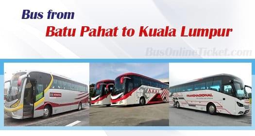 Bus from Batu Pahat to Kuala Lumpur