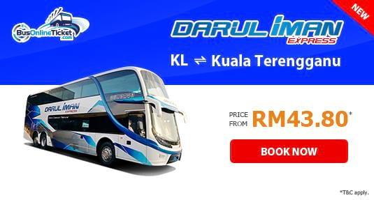 Darul Iman Express Bus Service Between Kuala Lumpur and Kuala Terengganu