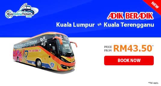 Adik Beradik Express Bus Between Kuala Lumpur and Kuala Terengganu