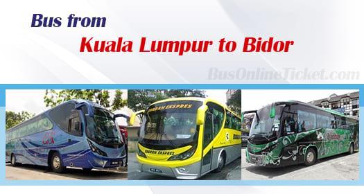Bus from Kuala Lumpur to Bidor