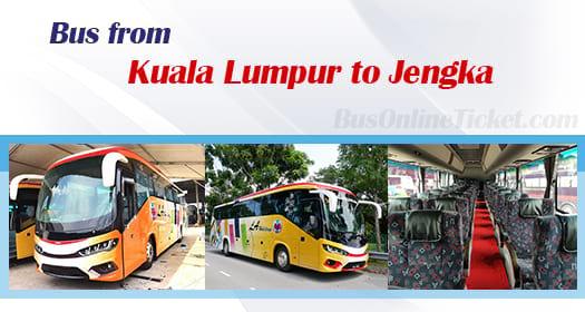 Bus from Kuala Lumpur to Jengka