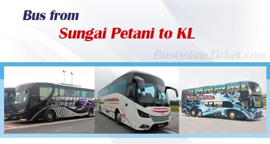 Bus from Sungai Petani to Kuala Lumpur
