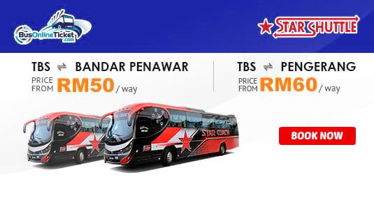 Star Coach Express Offers New Bus Service Between TBS, Bandar Penawar and Pengerang