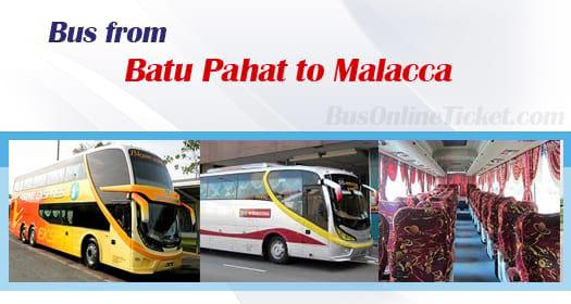 Bus from Kuantan to Batu Pahat to Melaka Sentral