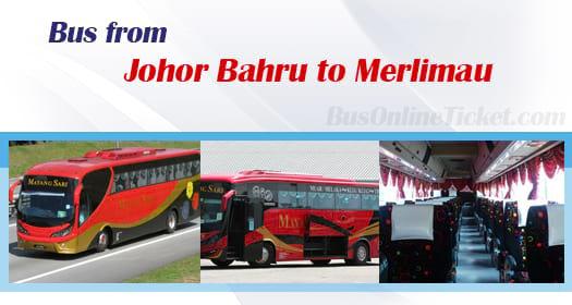 Bus from Johor Bahru to Merlimau