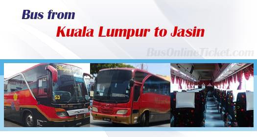 Bus from Kuala Lumpur to Jasin
