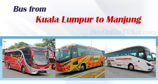 Bus from Kuala Lumpur to Manjung