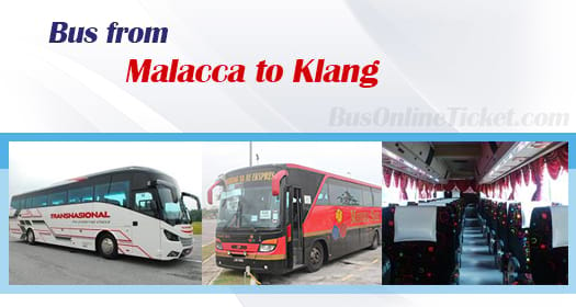 Bus from Malacca to Klang