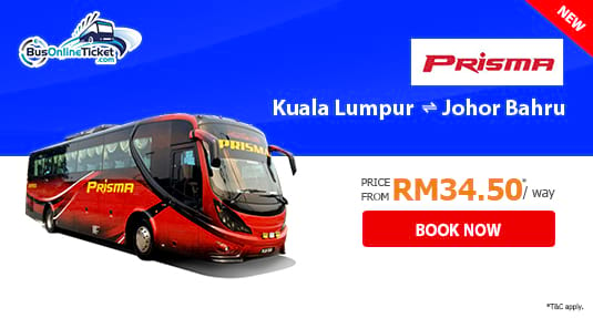 Prisma Express offers bus between KL and JB